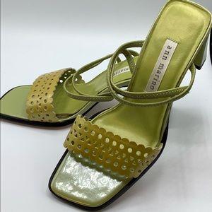 Ann Marino green square toe and heel.size 6